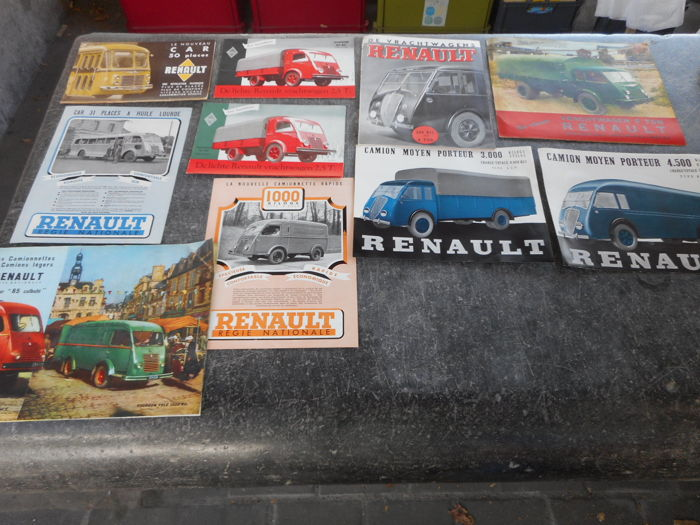 Brochures / Catalogi - Renault - 1940-1950 (10 items)