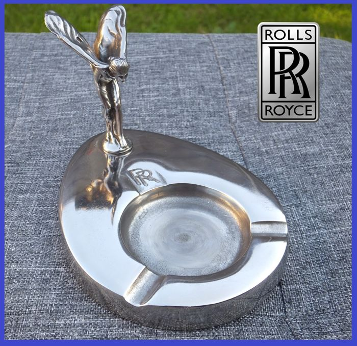 RR Ashtray - Rolls Royce Spirit Of Ecstasy 1950 Chrome Ashtray  - 1960-1950 (1 items)