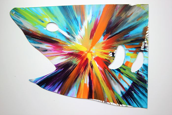 Damien Hirst - Shark Spin Painting
