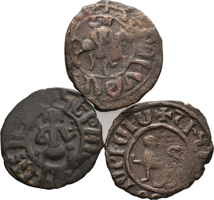 Armenia, Cilicia - Medieval, Lot of 3 AE 1198-1375 AD