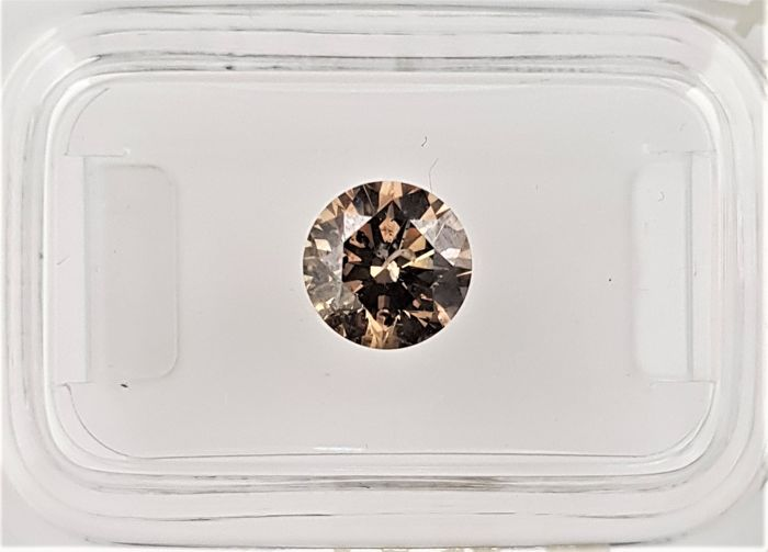 1.15 ct - Natural Fancy Diamond - Intense Brown Color - SI2 - EX/EX/EX - NO RESERVE!