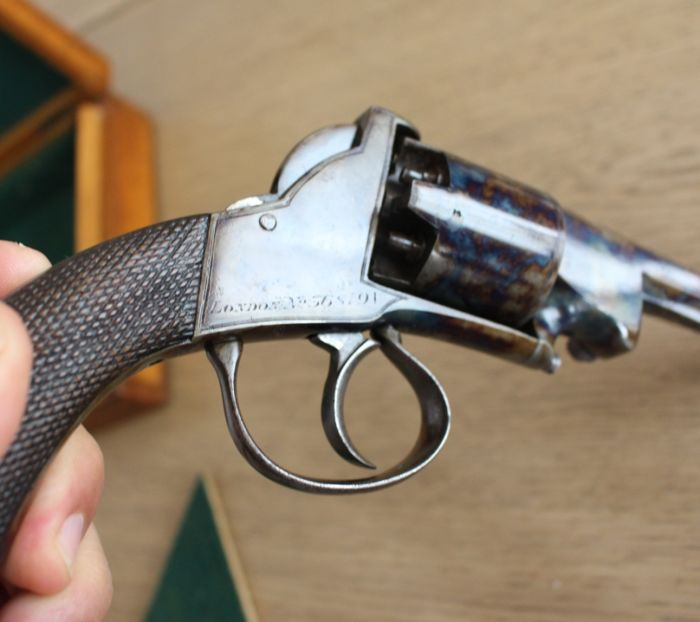 webley bentley percussion revolver cased jasped perfect condition