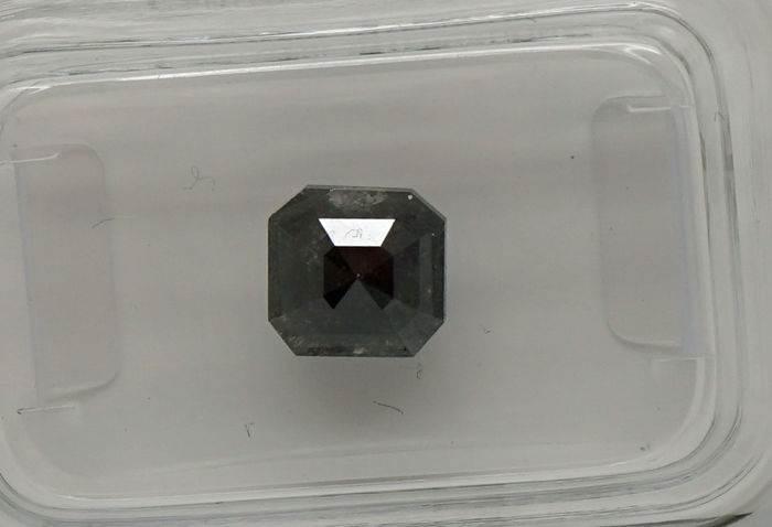1.36 Cts Certified Natural Fancy Black Diamond -No reserve