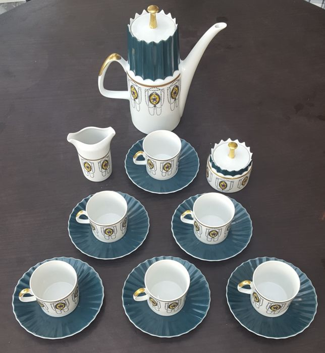Atelier Pirkenhammer - Mocca coffee-set for 6 persons Aurelia