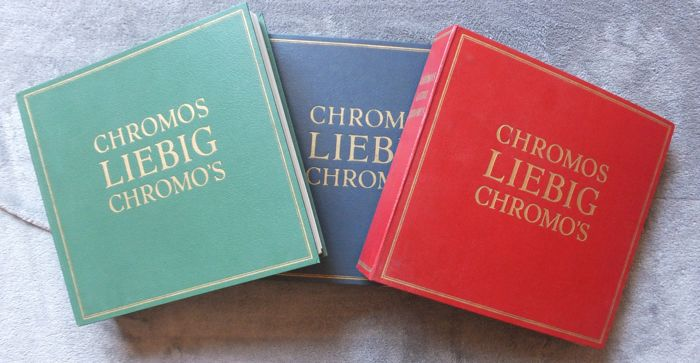 Liebig Chromos - 3 beautiful collectors albums - 900 chromos - 150 sets