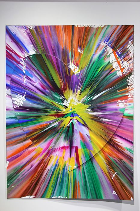 Damien Hirst - Diptych Heart Spin Painting