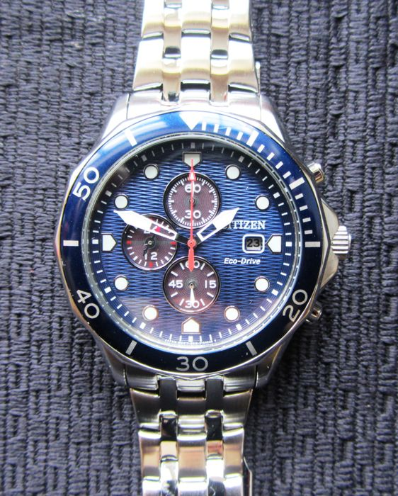 Citizen - Eco Drives Divers Chronograph Seamaster Homage - CA0540-56L - Heren - 2011-heden