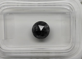 1.16 Cts Certified Natural Fancy Black Diamond -No reserve