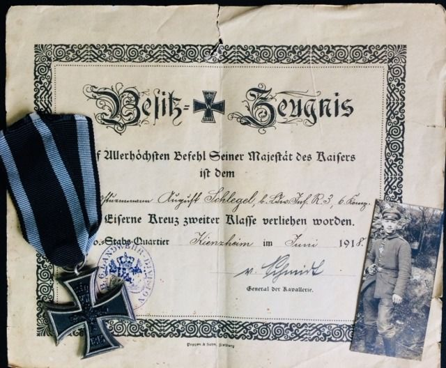 Iron Cross 2nd class 1914 with certificate of ownership - Catawiki