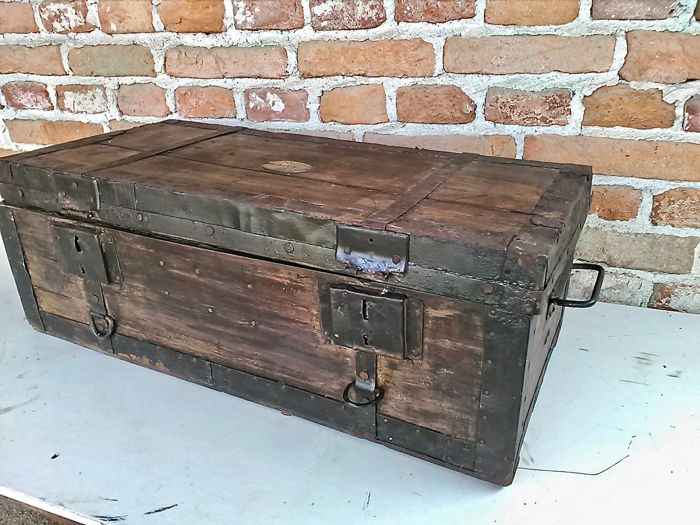 19th century carriage trunk