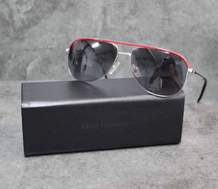Christian Dior Homme - Dior_0147S 010 Red Zonnebril