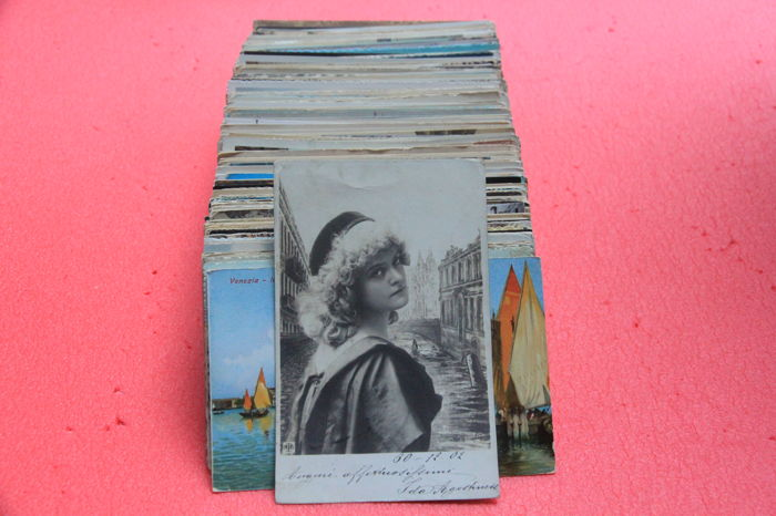 Collection of 458 postcards of Venice 9x14 with different views No duplicates, all photographed