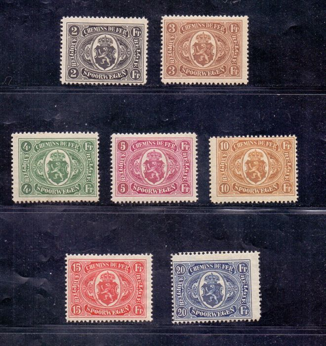 België 1921 - National coat of arms in oval with 2 winged wheels - OBP / COB TR128/34