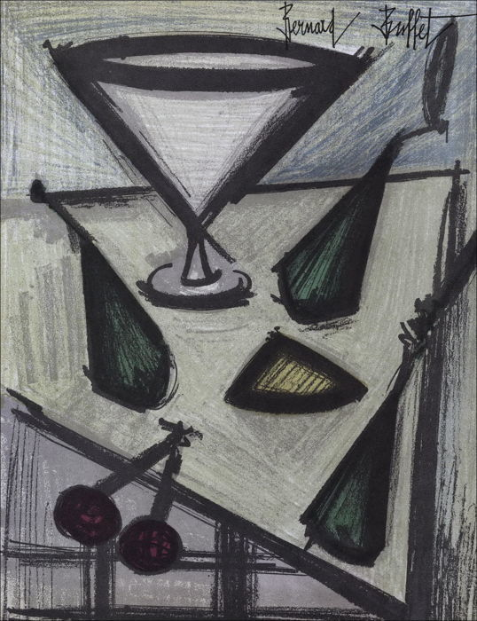 Bernard Buffet - Nature morte aux fruits