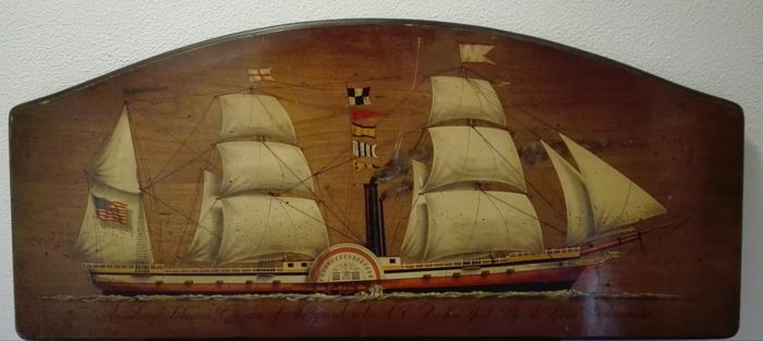 Painting on wood by the artist F. Conz