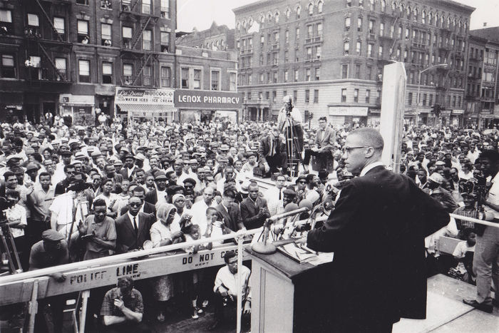 Unknown/Associated Press - Malcom X Speaks, Harlem, New York, 1963