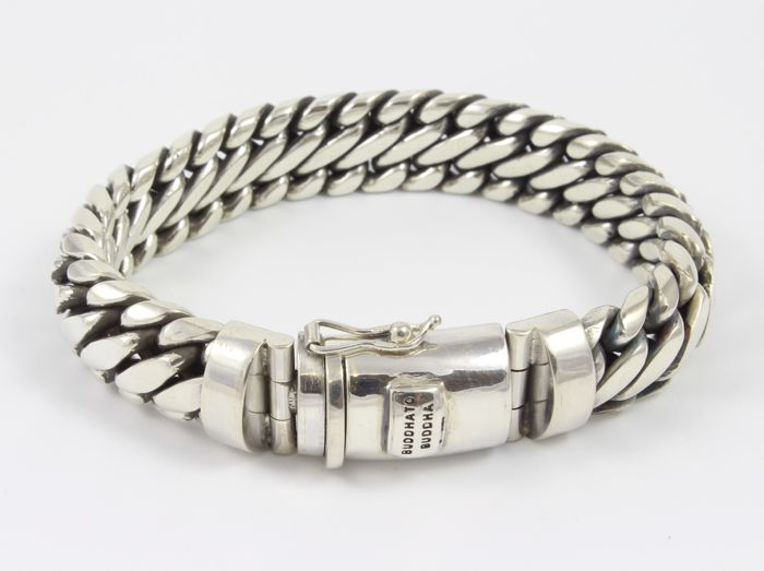 BUDDHA TO BUDDHA Bracelet - Sterling Silver 925/1000  (tested) - Length when closed: 21.5 cm