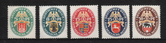 German Empire 1928 - complete set - Michel 425-429