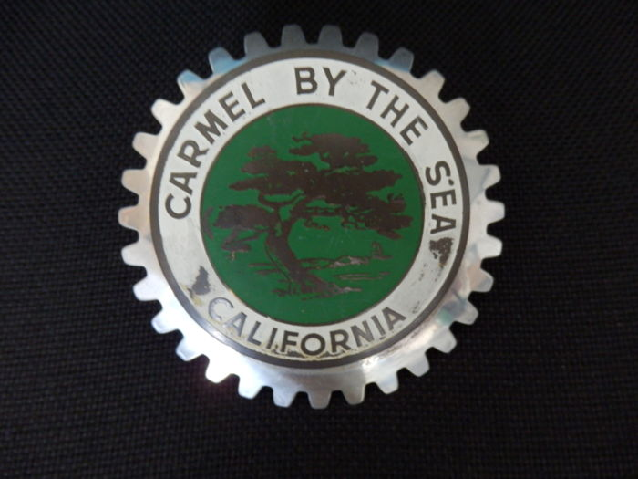 Car- Badge Embleem - Vintage Carbadge Carmel by the Sea  - 1970 (1 items)