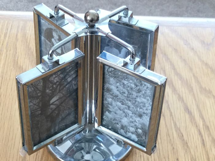Chrome Plated Swivel Set of Photo Frames.