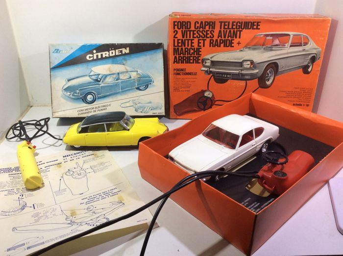 Citroën Ds 19 plus Ford Capri mint boxed Osul en Meccano