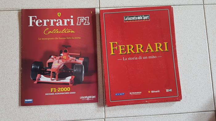 Ferrari F1 collection + 9 FERRARI booklets ans 32 magazines 'La Manovella'