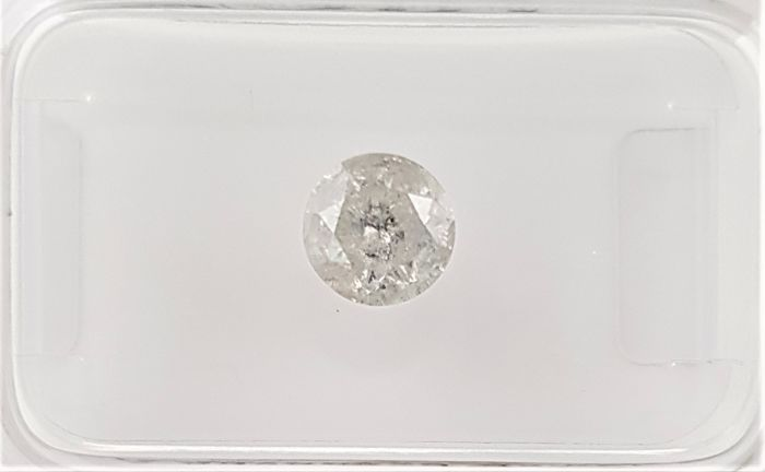 0.70 ct - Natural White Diamond - F Color - I2 - VG/VG/VG - NO RESERVE!