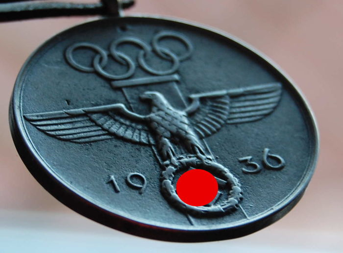 Third Reich Olympia 1936 - Collection album 1 + medal for meritorious participation in the 1936 Olympics