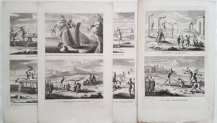 4x by probably M. Poel - Various martyr scenerys