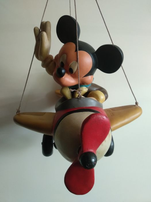 Disney - Mickey Mouse in Vliegtuig - Beeld - (1980)