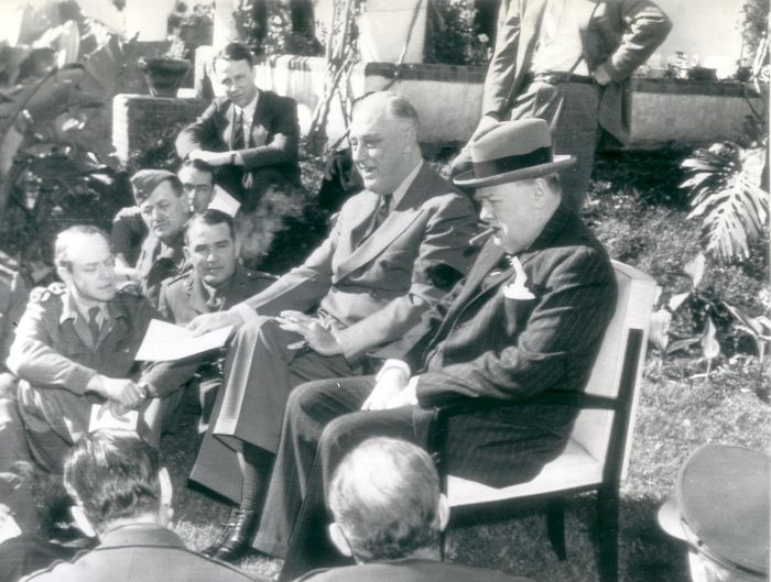 Unknown/Associated Press Photos - Winston Churchill and Franklin Roosevelt, Cassablanca conference, 1943