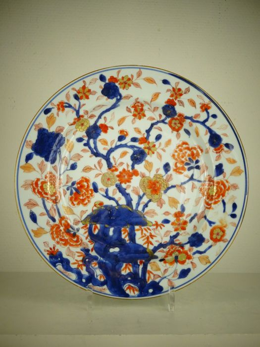 Large Imari porcelain plate - China - Kangxi period (1662-1722)
