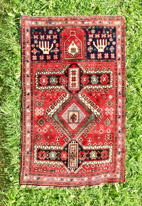 Prayer rug from the Caucasus region - 164 cm × 104 cm