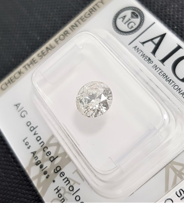 1.32 ct - Natural White Diamond - G Color - SI2 - EX/EX/EX - NO RESERVE!
