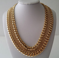 1970's MONET Multi Chain Necklace