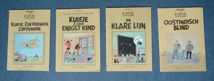 Kuifje - Kuifje in Rotterdam - 1e t/m 4e schrift - complete serie - Softcover - Eerste druk - (1977)