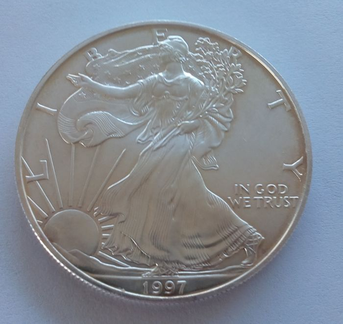 VS - 1  Dollar 1997 & 2002 Eagle - 2 x 1 Oz - Zilver