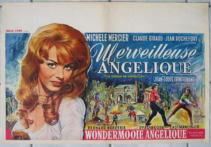 Angelique : the road to Versailles (Michèle Mercier) - 1965 Very nice artwork
