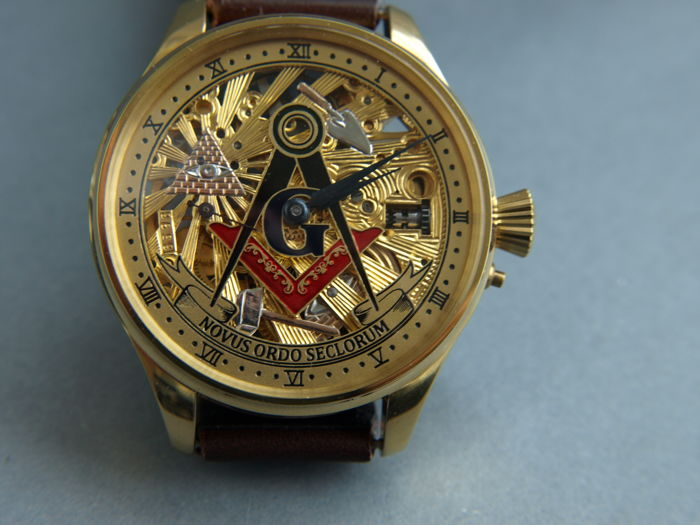 Zenith - Masonic skeleton marriage watch - 1786596 - Heren - 1901-1949