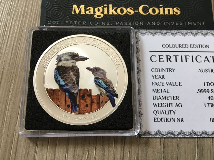 Australie - 1 Dollar 2017 Kookaburra coloured - Argent