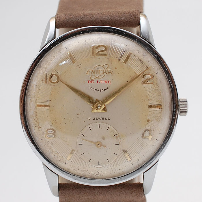 Enicar - De Luxe Oversized Watch - 1080-12 - Heren - 1960-1969