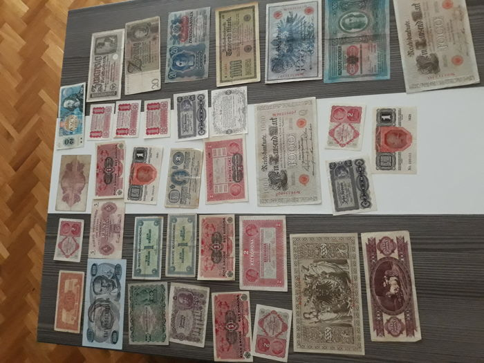World - 36 Banknotes including Austria Pick 141