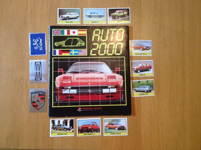 Panini - Auto 2000 - Complete album + 12 different original stickers