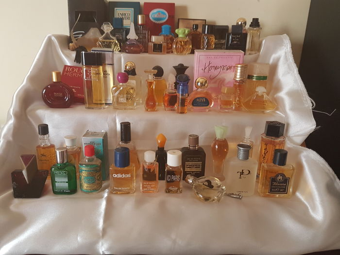 Collection of 45 miniature perfumes