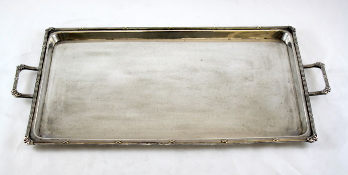 Antique silver plated serving tray, by Daniel & Arter, Made in Birmingham Circa 1920's