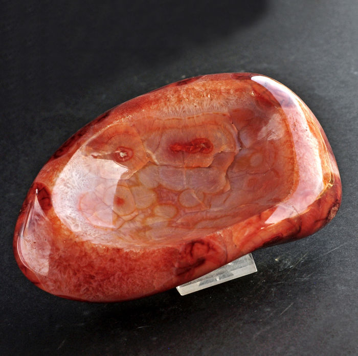 First quality Carnelian ashtray - 16.9 X 11.3 X 5.2 Cm - 1260 Gm