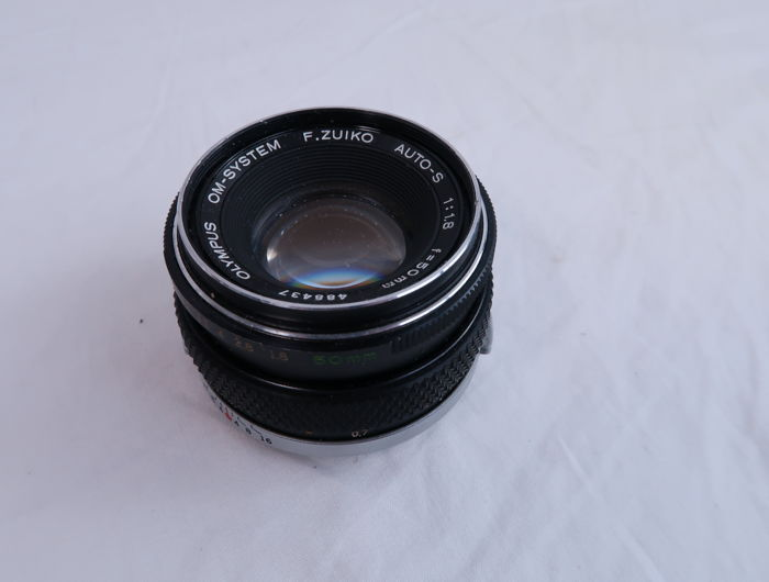 Olympus 50mm f/1.8 Manual Focus Auto-S OM Series Zuiko Camera Lens