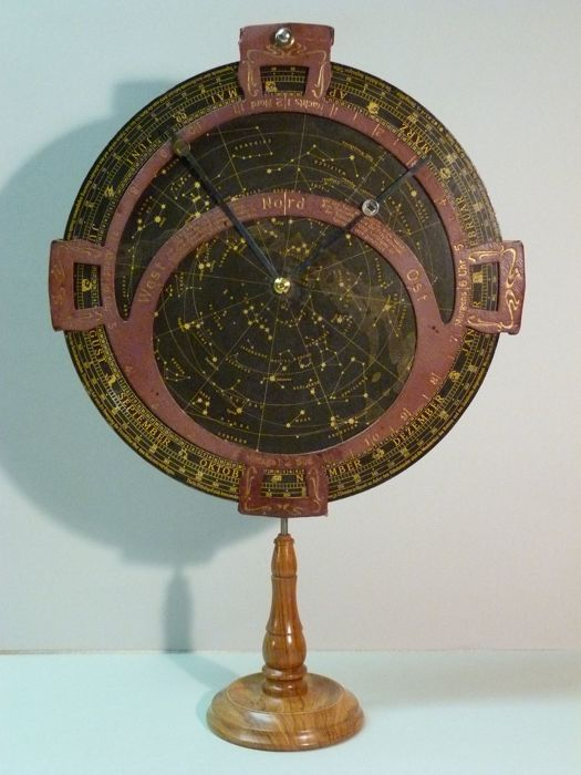 Large rotating star map, MANG, height 45 cm