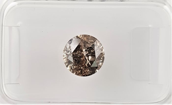 1.18 ct - Natural Fancy Diamond - Fancy Brown Color - I1 - NO RESERVE!