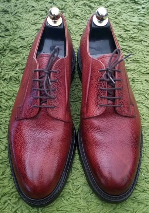 Cheaney Deal derby shoes, with laces, in brown grained leather 8.5/42.5, unworn